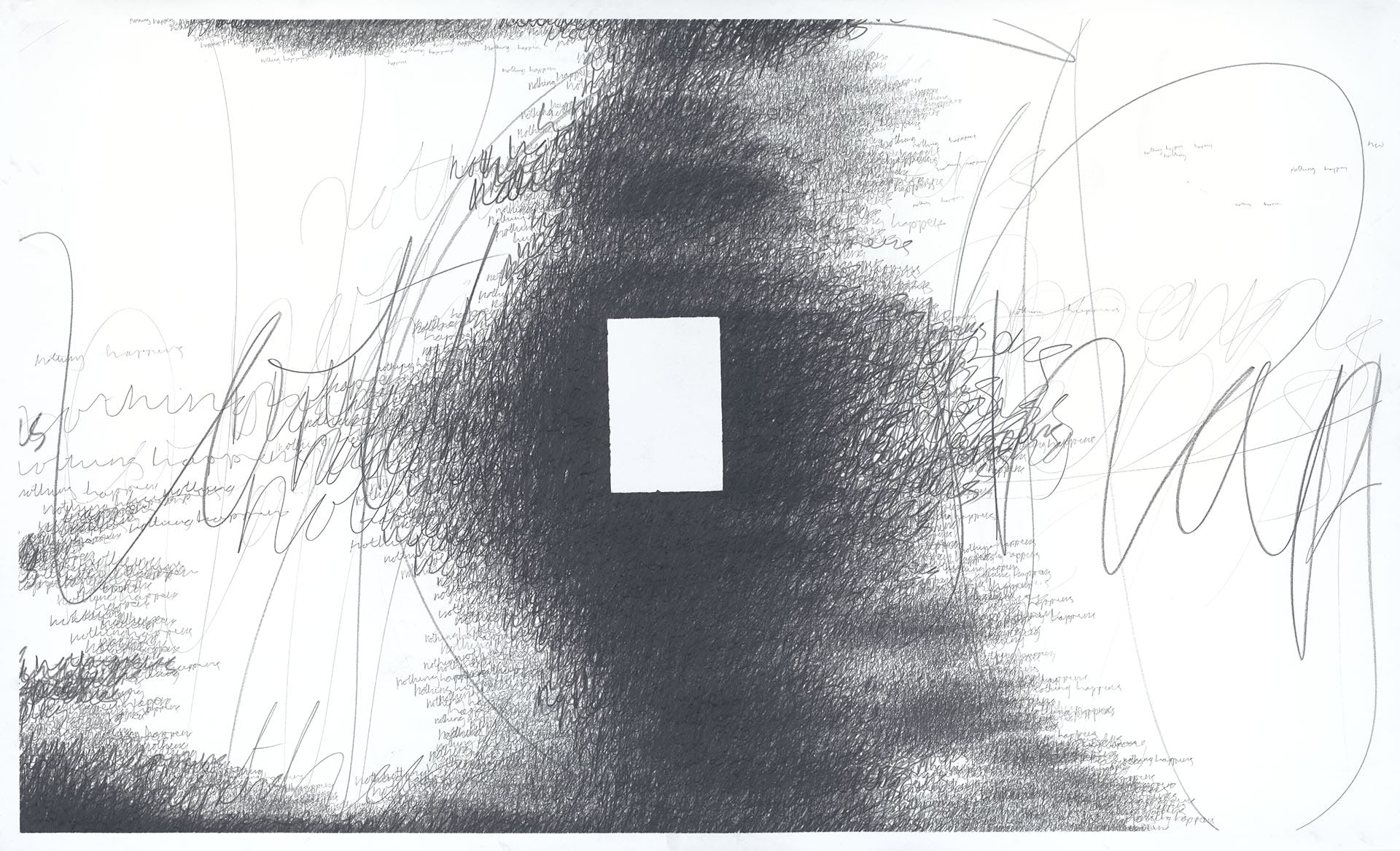 Nothing Happens (facsimile) 2018–2019 9B graphite crayon and 2B graphite pencil on Fabriano Artistico paper, 164×100cm
