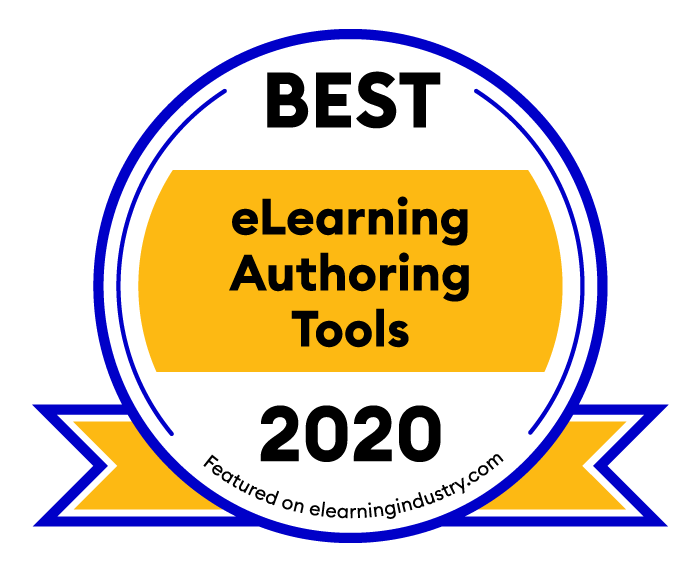 Best eLearning Authoring Tools 2020 Badge