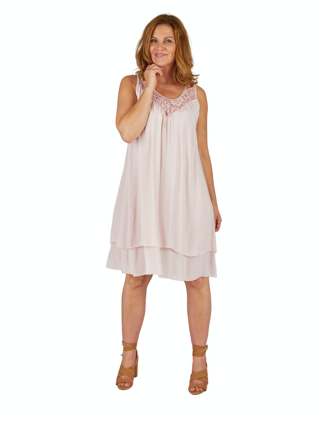 Rosé farbendes Kleid