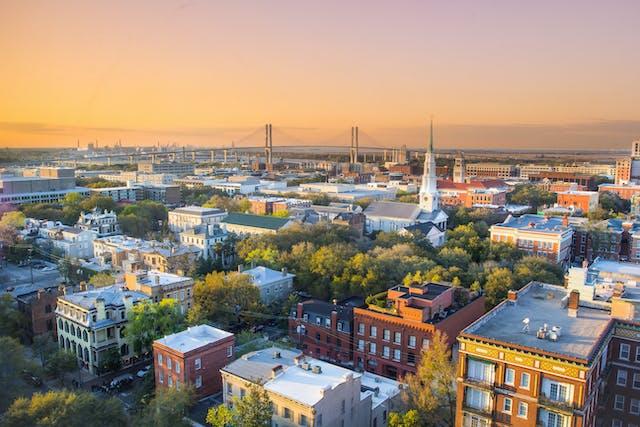 Savannah Georgia Aerial View