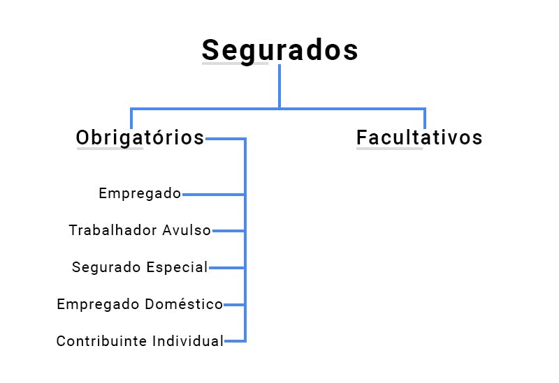 Tipos de segurados obrigatórios e facultativos no INSS