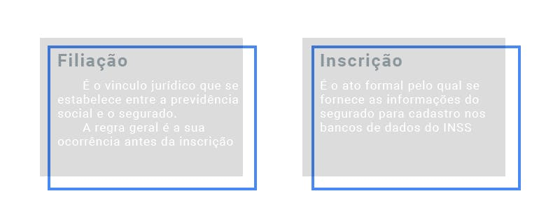 Diferença entre filiação e inscrição no INSS