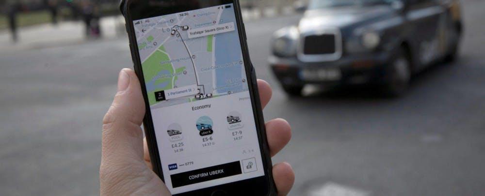 Imagen de la app de Uber