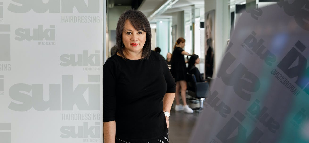 Sandy Chong at her salon in Newcastle, NSW. PHOTO Max Mason-Hubers