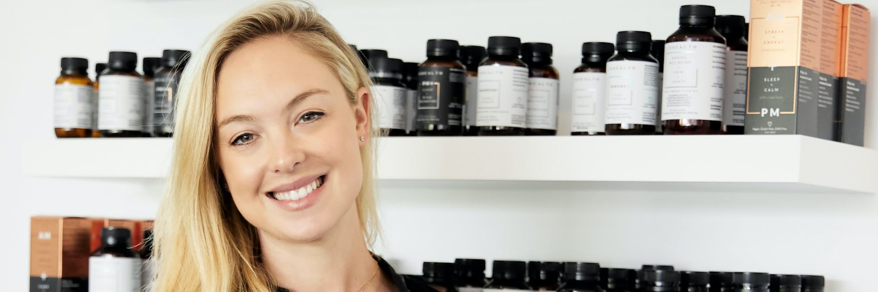 Jessica Sepel of JS Health with vitamins