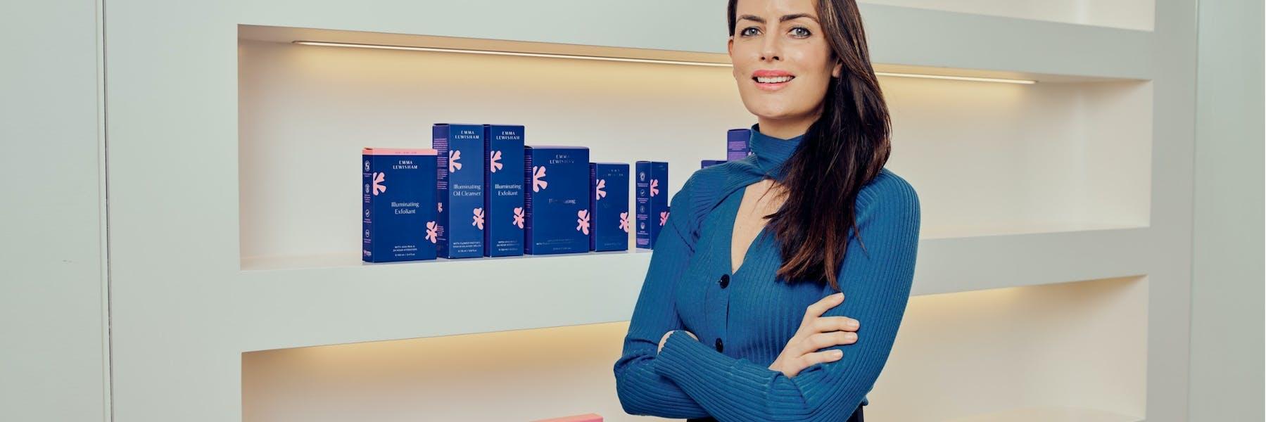 Emma Lewisham with her natural beauty products PHOTO: Mark Leedom