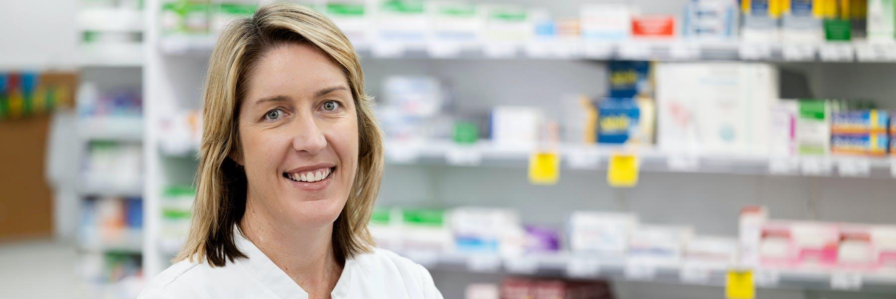 Pharmacist Karen Brown at TerryWhite Chemmart Samford PHOTO Justine Walpole