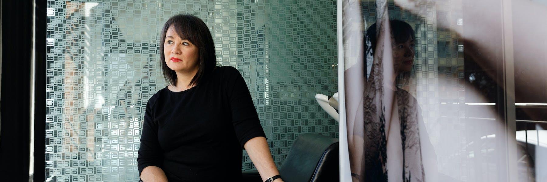 Sandy Chong of Suki Hairdressing in Newcastle, NSW PHOTO Max Mason-Hubers