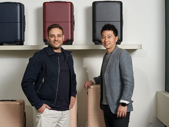 July luggage founders Athan Didaskalou and Richard Li