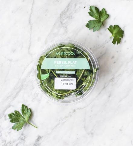 Une barquette de persil Agricool