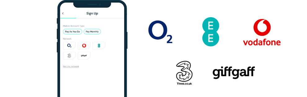 Select mobile network: O2, EE, Vodafone, Three, GiffGaff