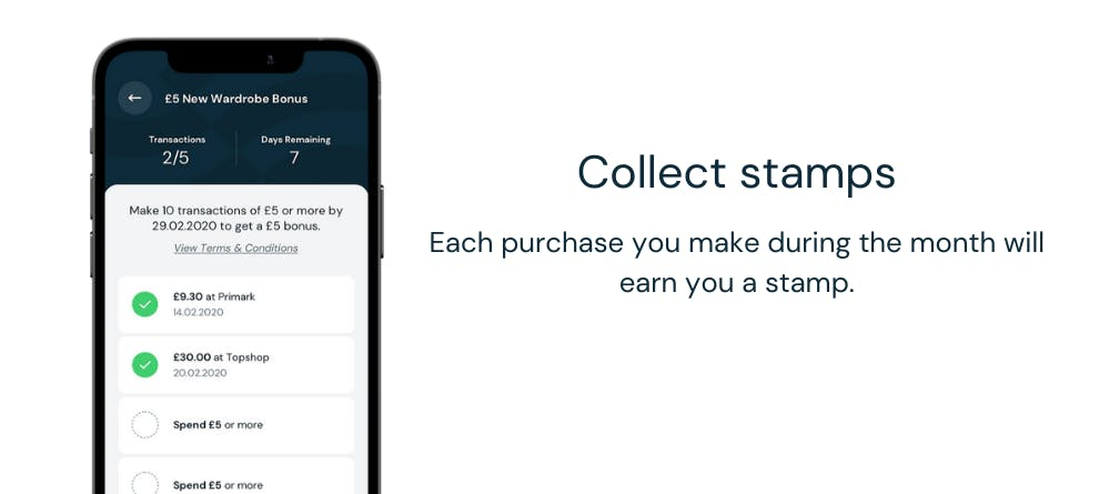 Collect Stamps to earn rewards