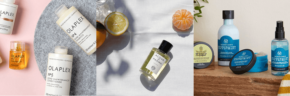 Feelunique, Debenhams and The Body Shop