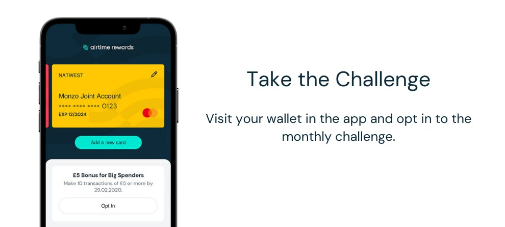 Take the Airtime Rewards Challenge