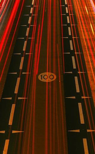 motorway neon lights