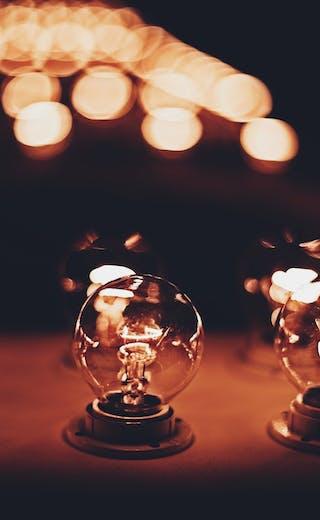 light bulb bokeh
