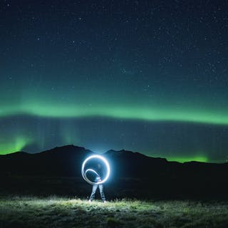 long exposure rings and landscape