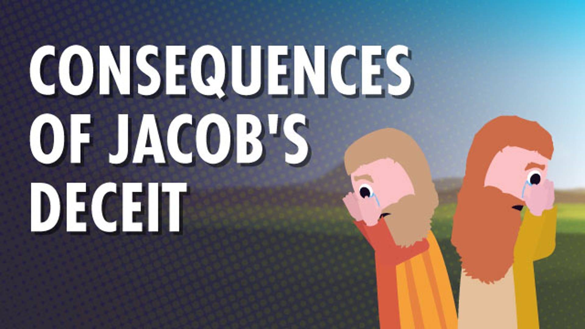 Jacob deceives Isaac and Esau