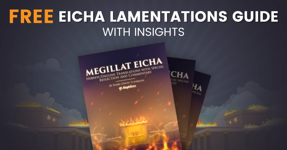Free Eicha Lamentations Guide