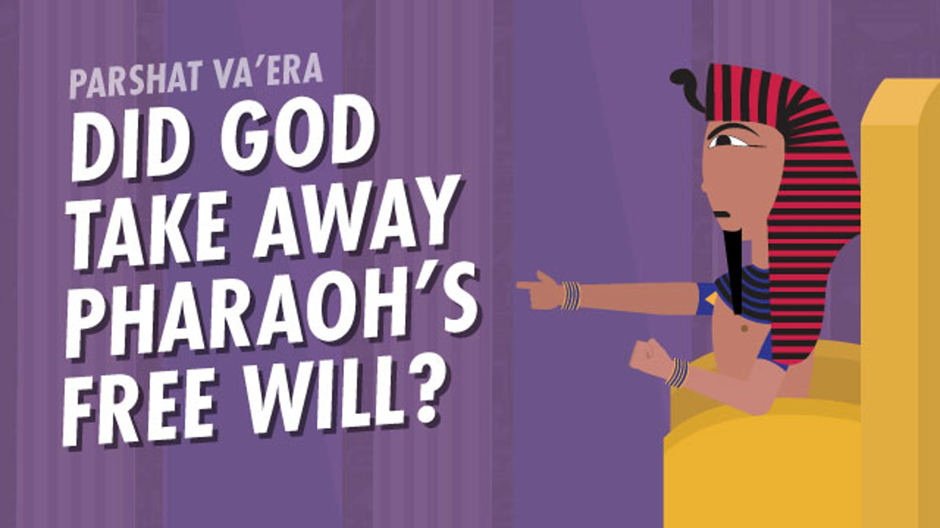 Did God take away Pharaoh's free will