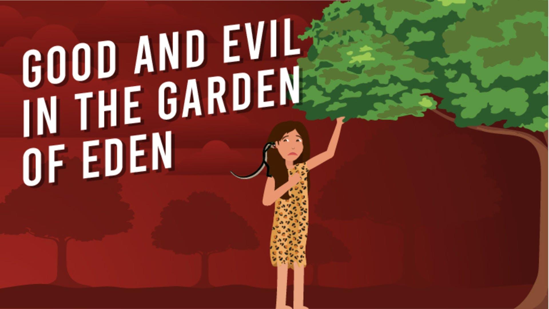 Two trees in the Garden of Eden
