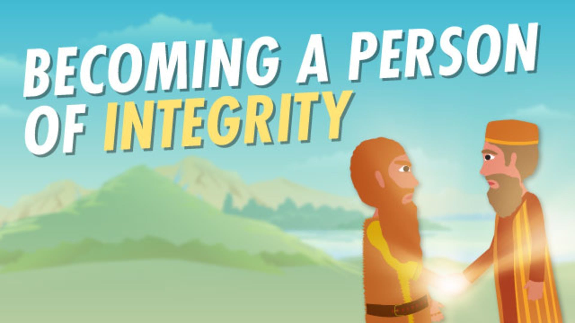 Jacob meets Esau again integrity