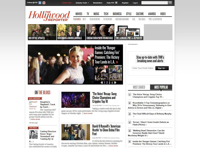 HollywoodReporter.com screenshot.