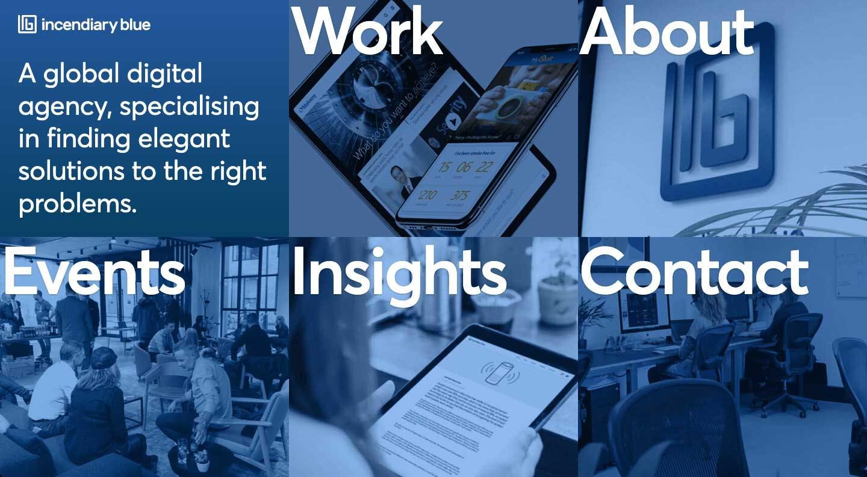 Alex Kasong's work on the Incendiary Blue Global Digital Agency Website