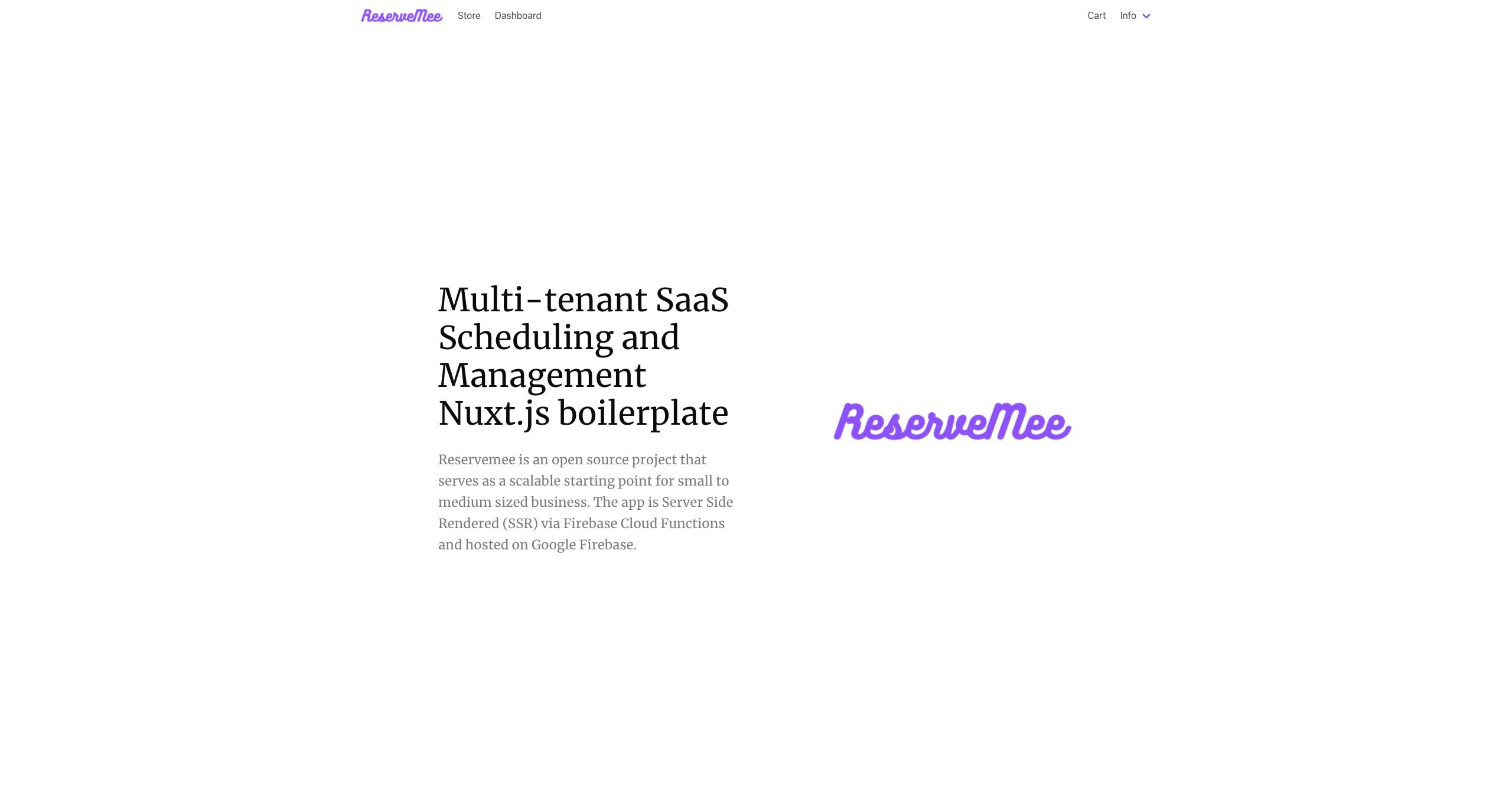 ReserveMee homepage