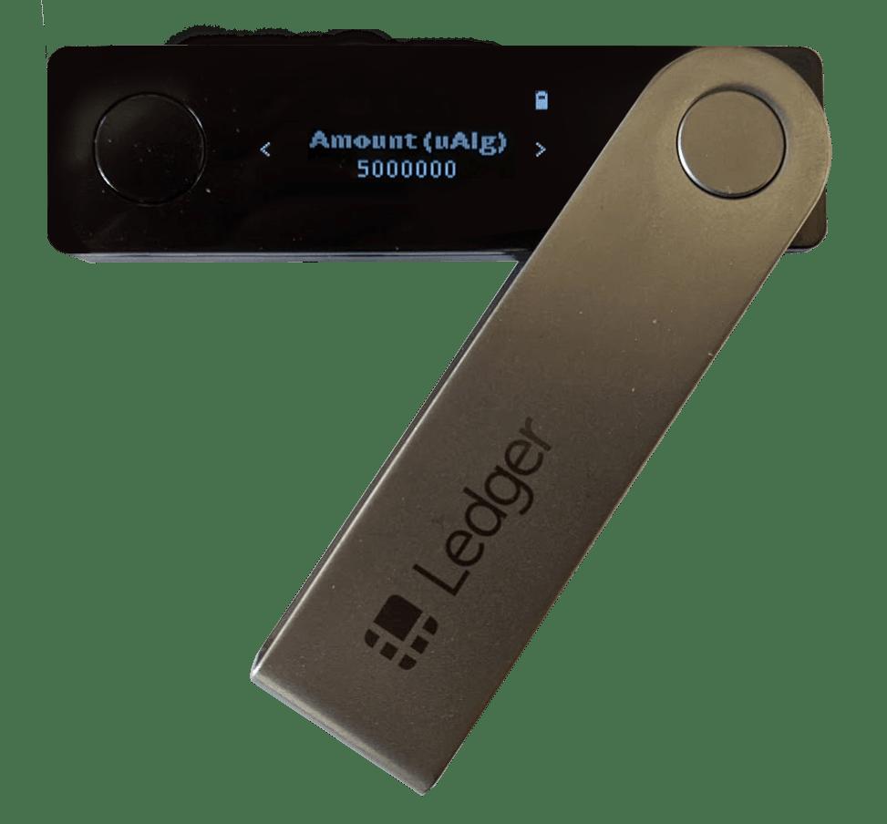 Algorand Ledger Wallet - Transaction Amount