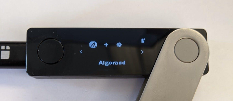 Ledger Bluetooth wallet - Algorand Account