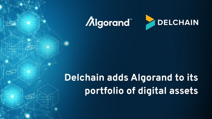 Delchain adds Algorand to its portfolio of digital assets