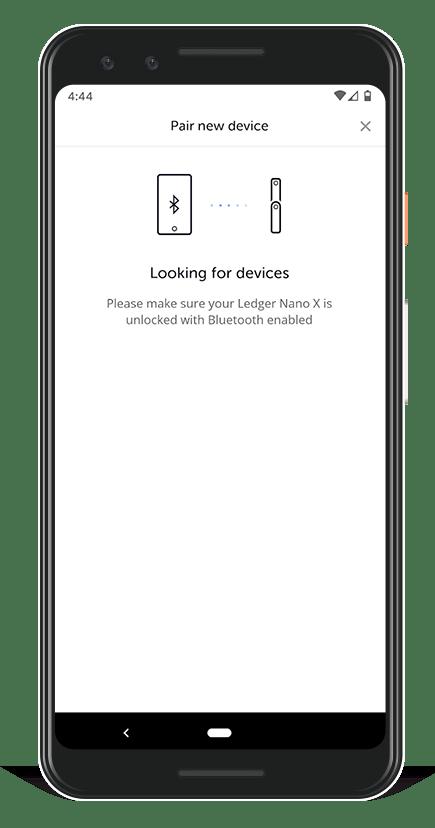 Algorand Ledger Live - pair new device