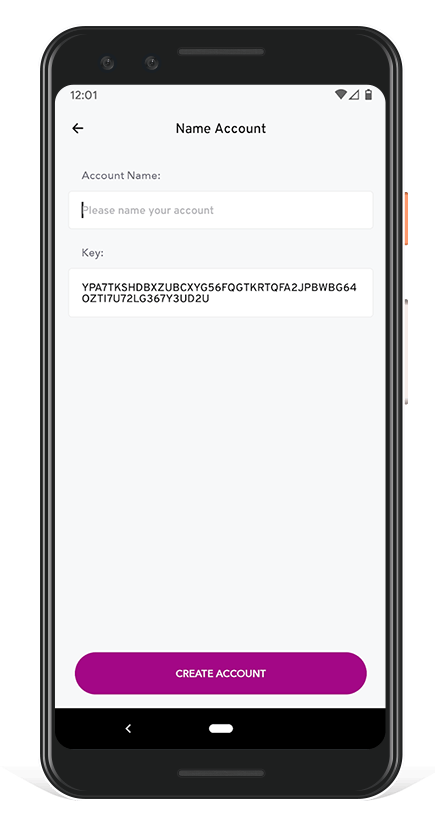 Algorand Wallet - Name Ledger Account