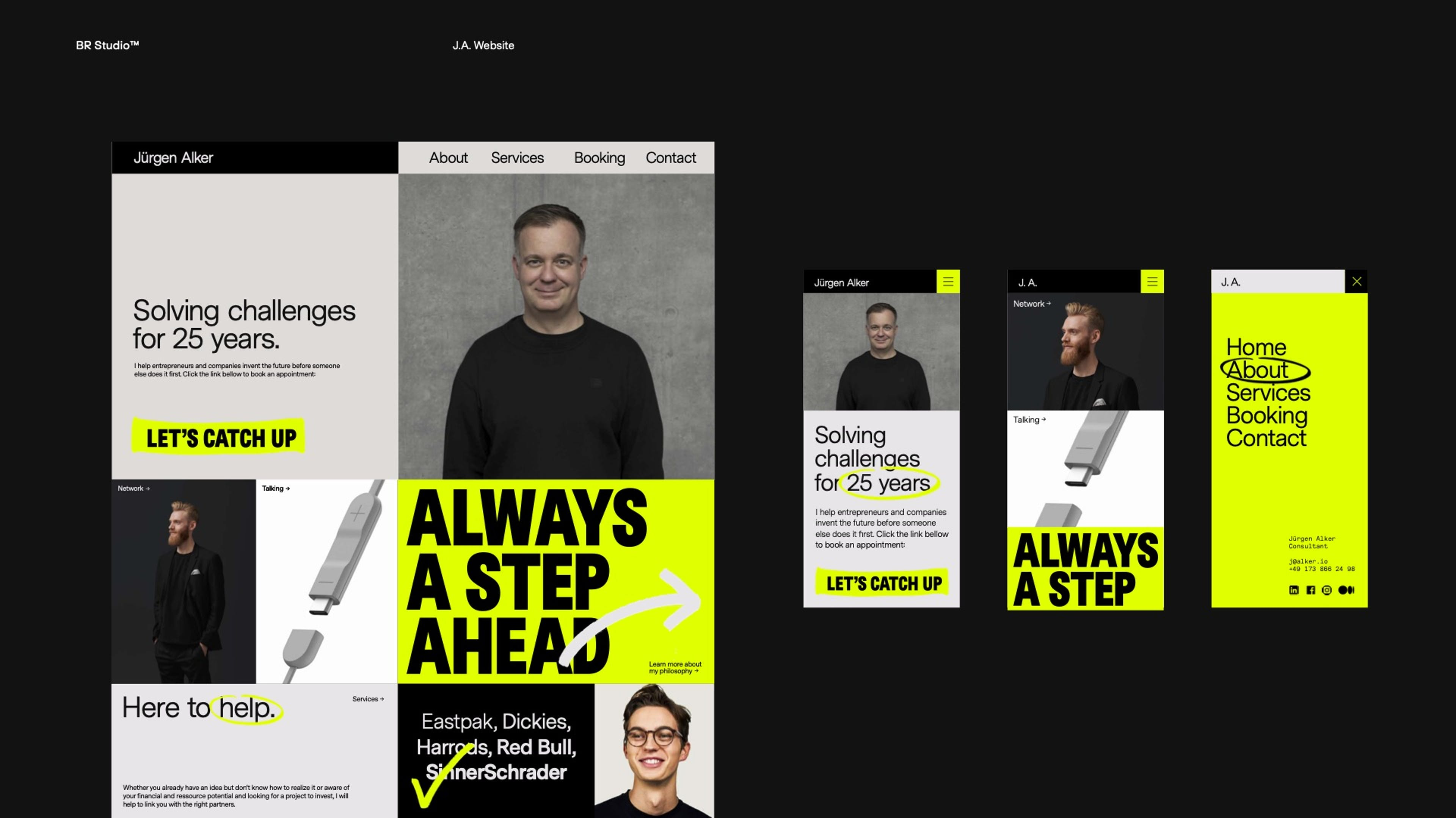 First layouts of the new design