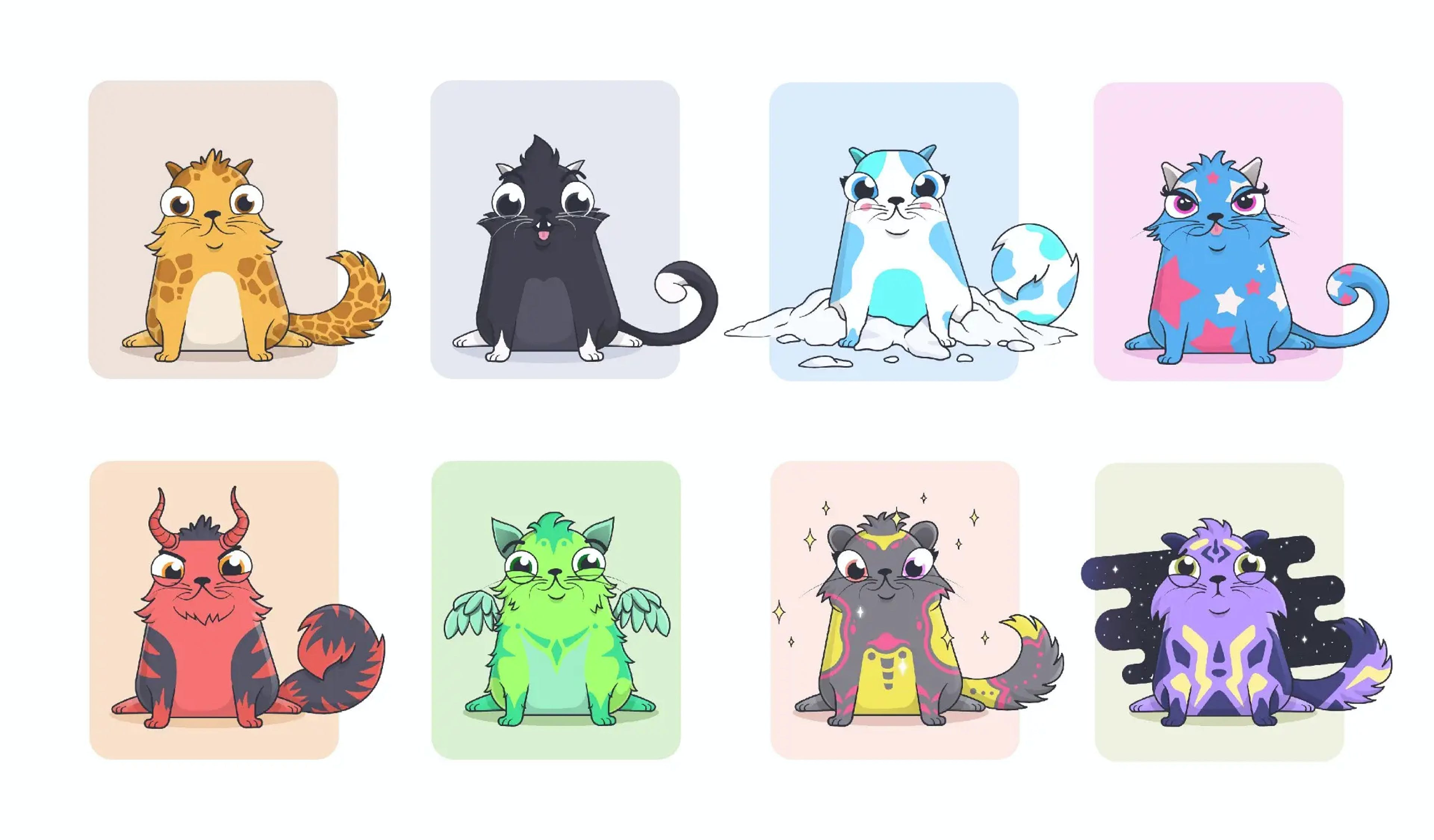 Cryptokitties — one of the first NFT projects, 2017