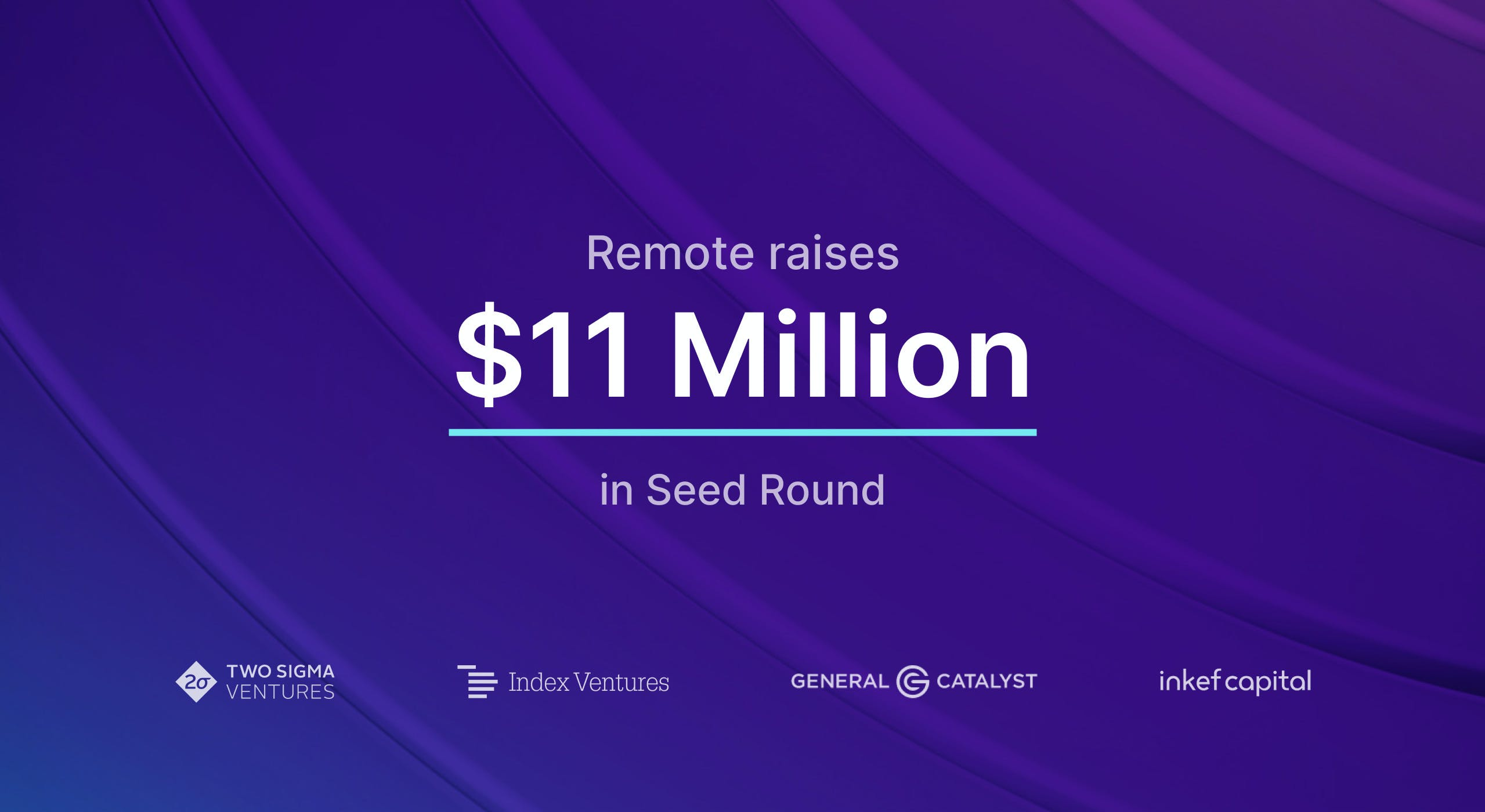 $11 million seed round announcement with investor names