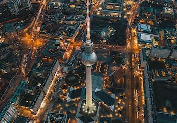 Germany employee benefits hero image of Berlin skyline