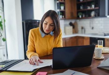 Women working at laptop