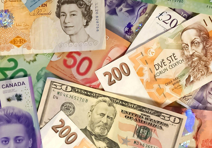 Various currencies and bills