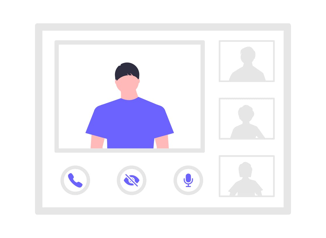 people attending a video conference
