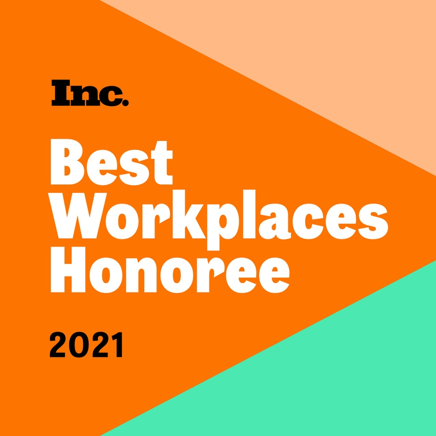 Inc. Best Workplaces Honoree 2021