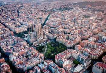 Beautiful skyline of Barcelona, Spain