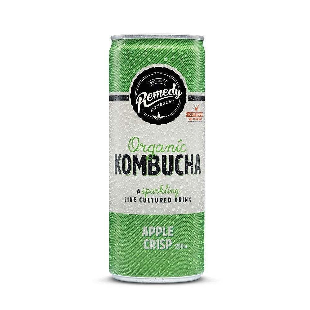 remedy kombucha, green can