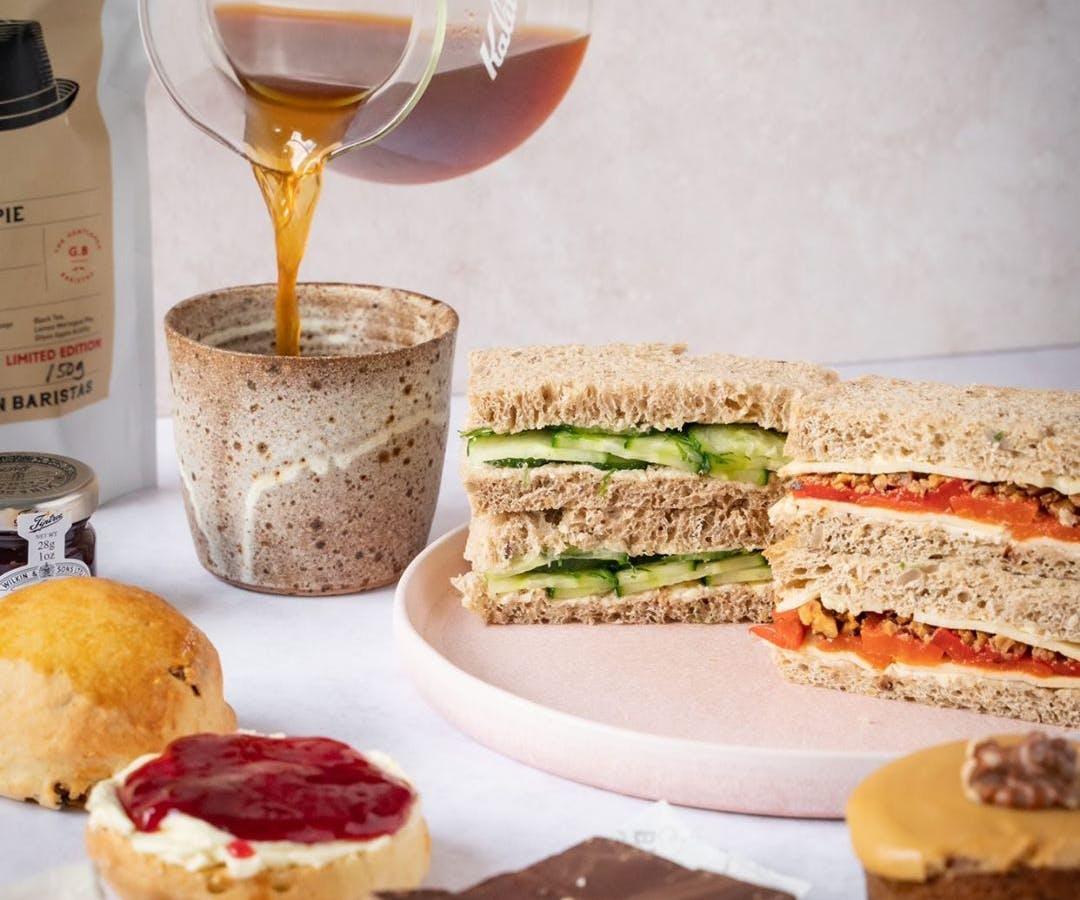 vegan afternoon tea selection