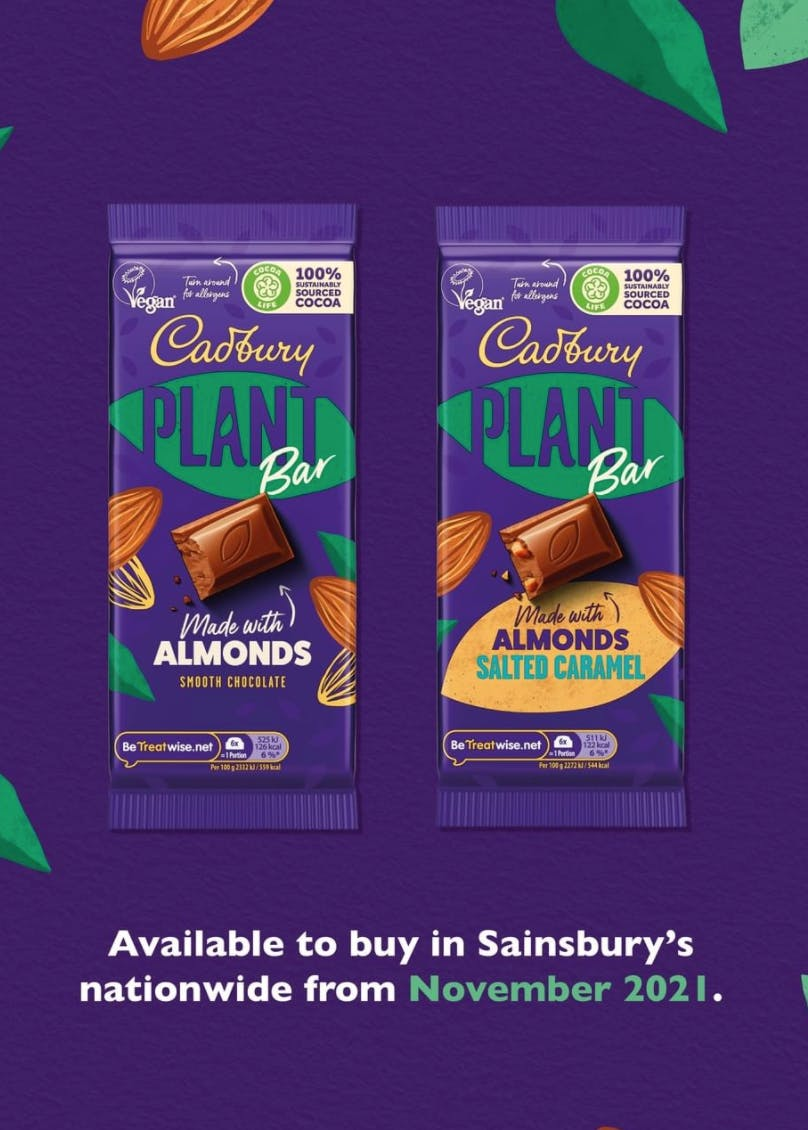 new product listing from Cadbury
