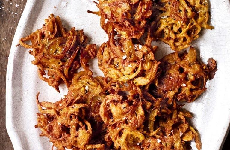 fresh onion bhajis