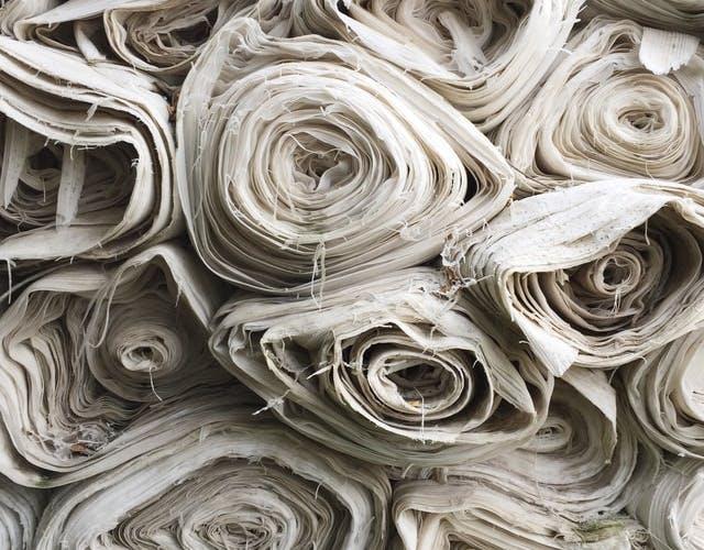 rolls of cotton fabric