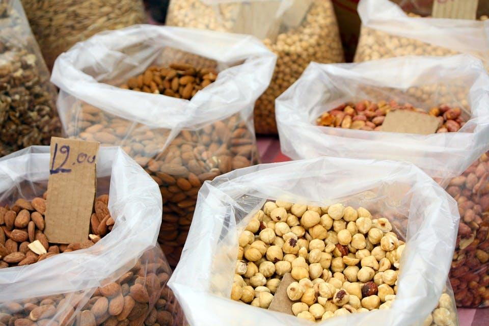 nuts at a market