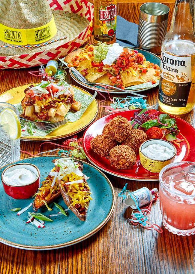 platter of vegan chiquito food